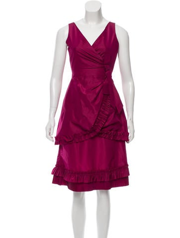Red Valentino Bow-Accented A-Line Dress None