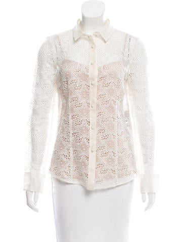 Red Valentino Silk Star Embroidered Top None
