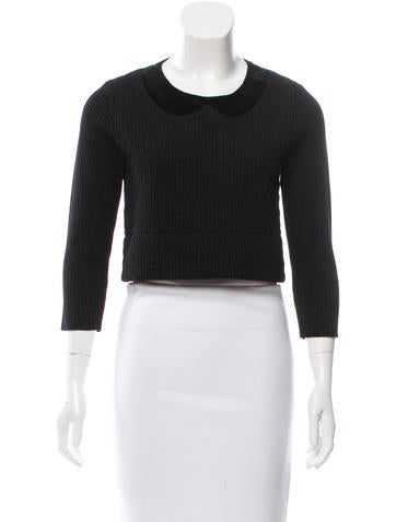 Red Valentino Long Sleeve Knit Top None