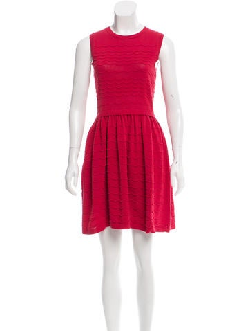 Red Valentino Flared Knit Dress None