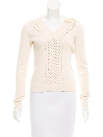 Red Valentino Long Sleeve knit Sweater w/ Tags None