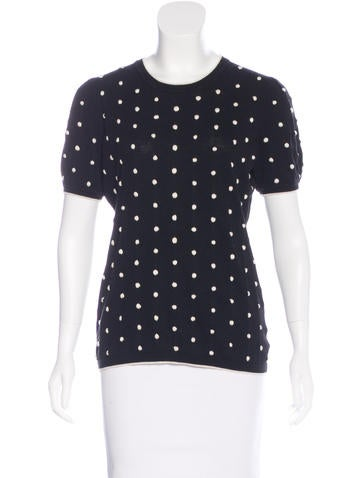 Red Valentino Knit Polka Dot Sweater None