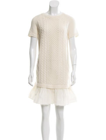 Red Valentino Virgin Wool Sweater Dress w/ Tags None