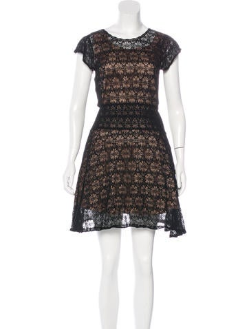Red Valentino Lace A-Line Dress None