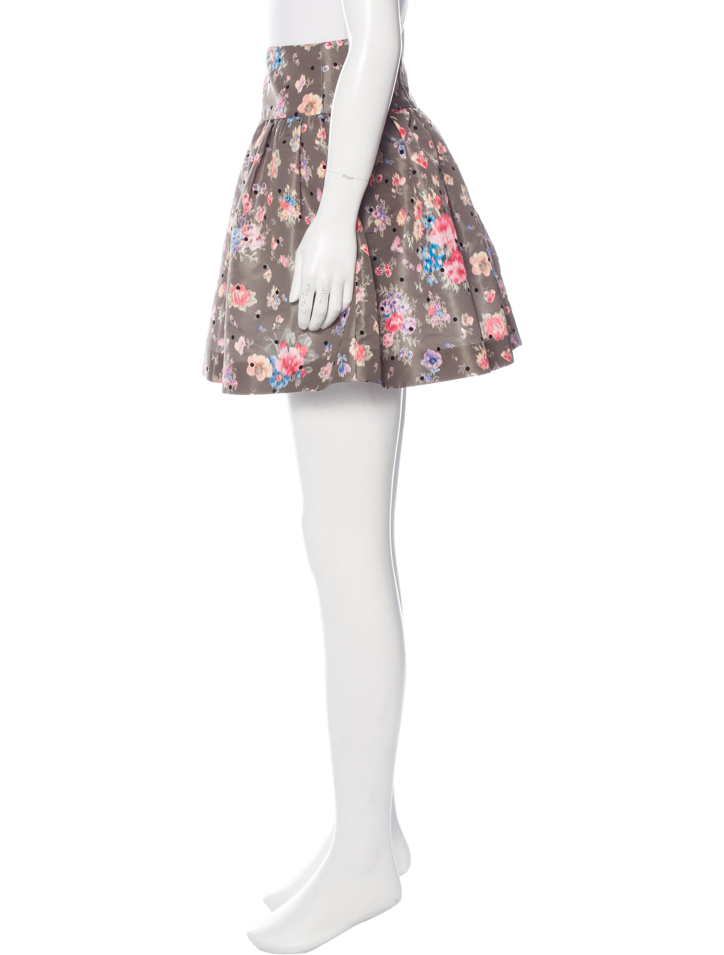 Floral Print Mini Skirt 108
