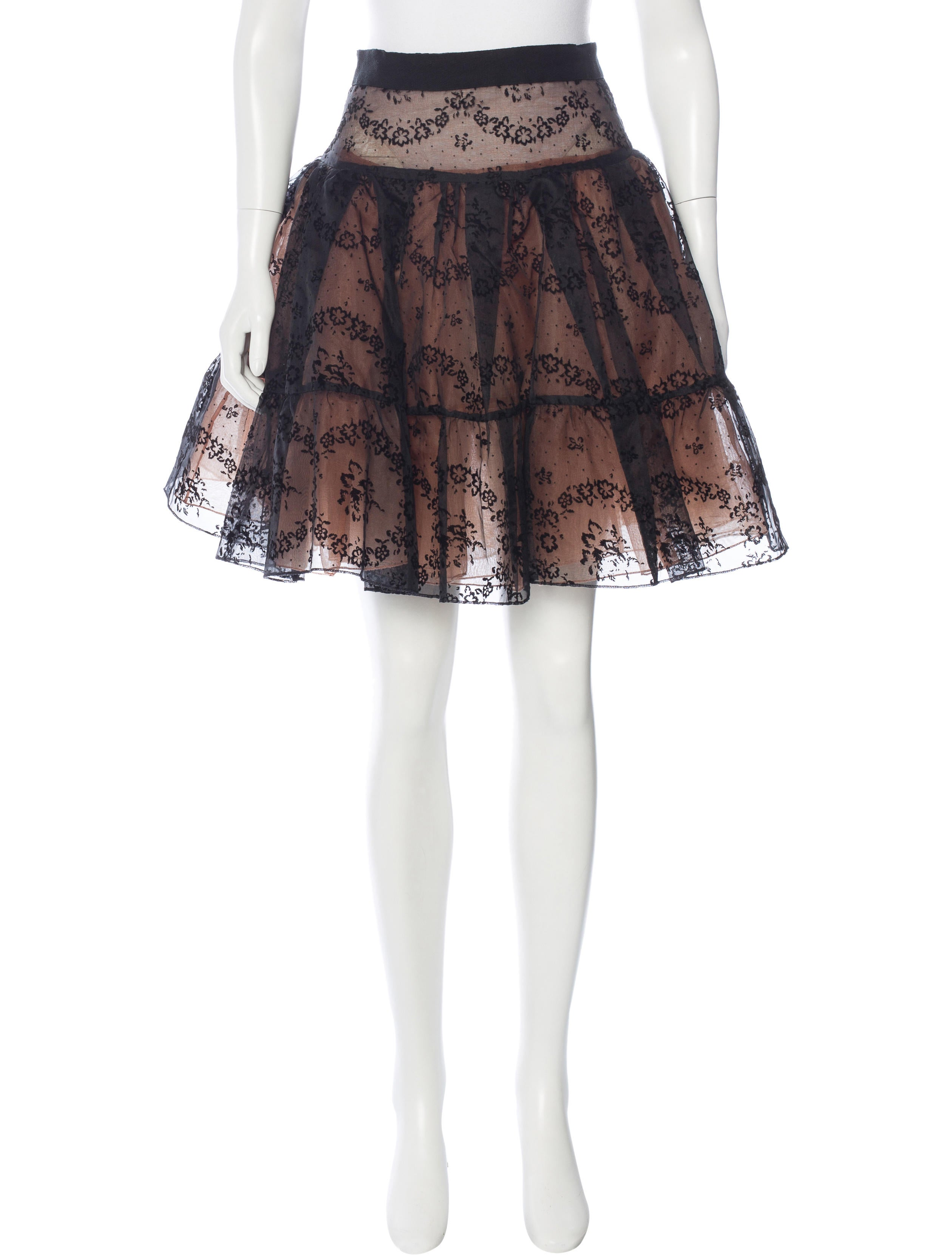 valentino silk a line skirt clothing wre27582
