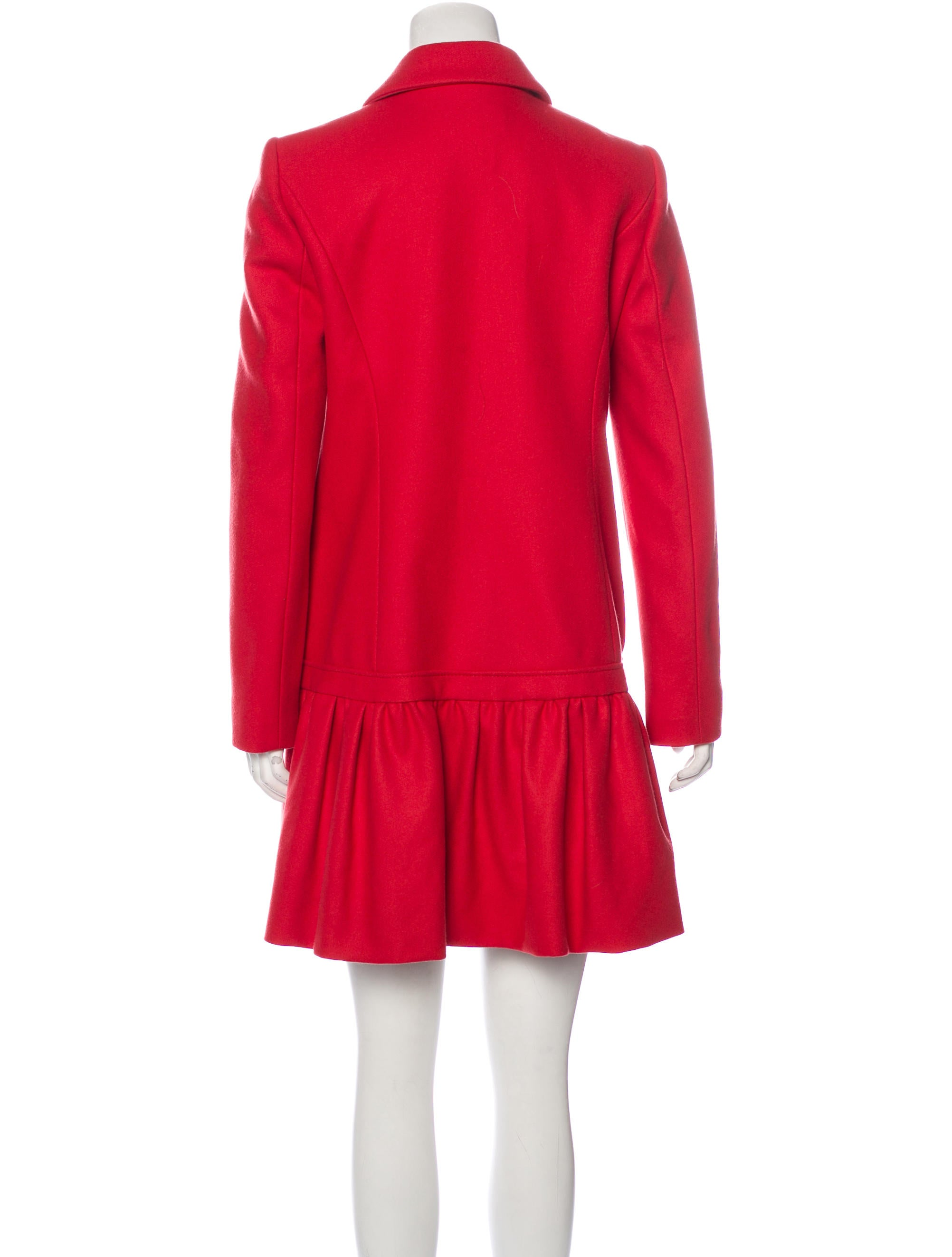 Red Valentino Ruffled Wool Coat Clothing WRE27854  : WRE278543enlarged from www.therealreal.com size 2004 x 2644 jpeg 206kB