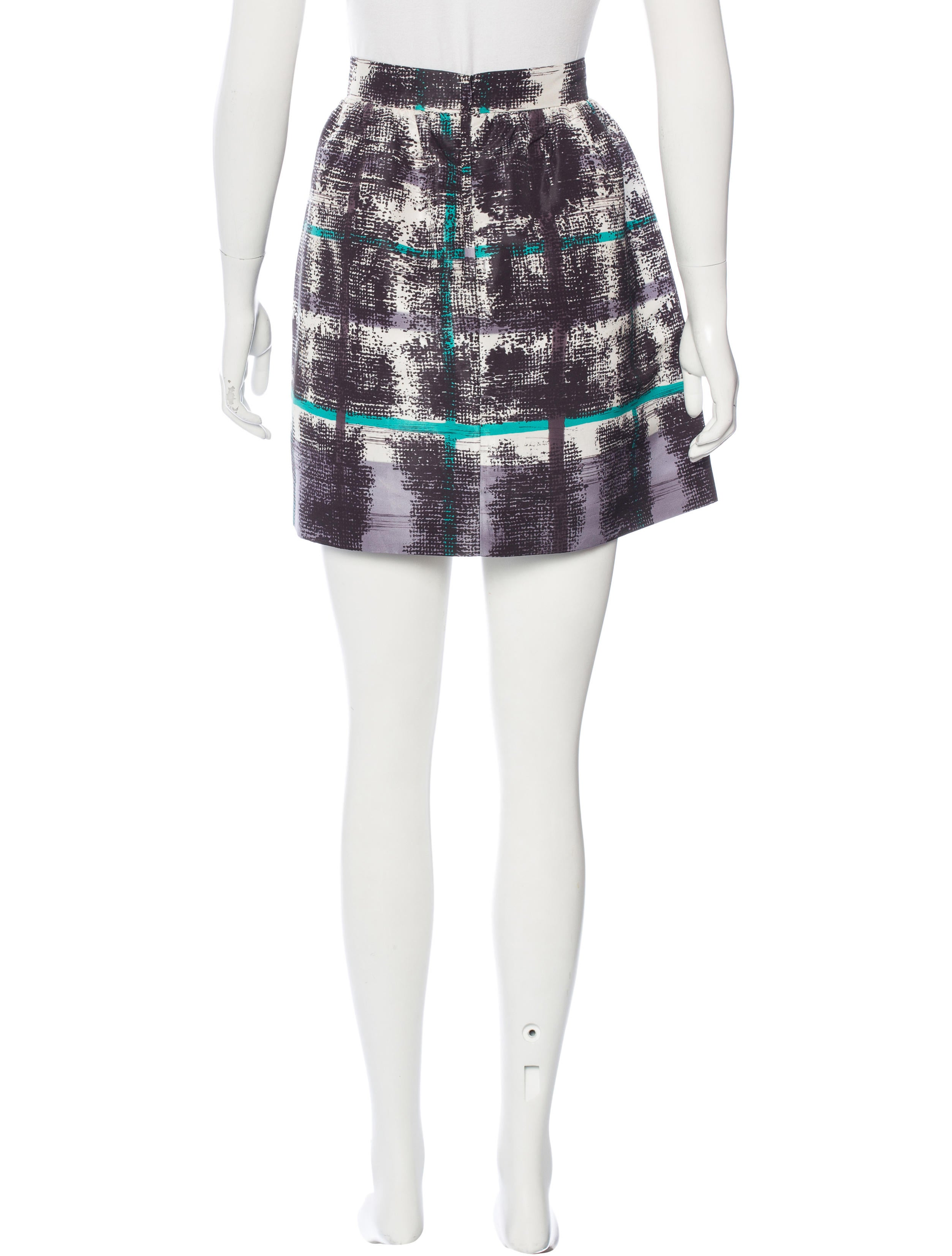 valentino printed a line skirt clothing wre28078