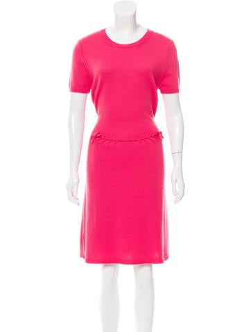 Red Valentino Wool Knit Dress None