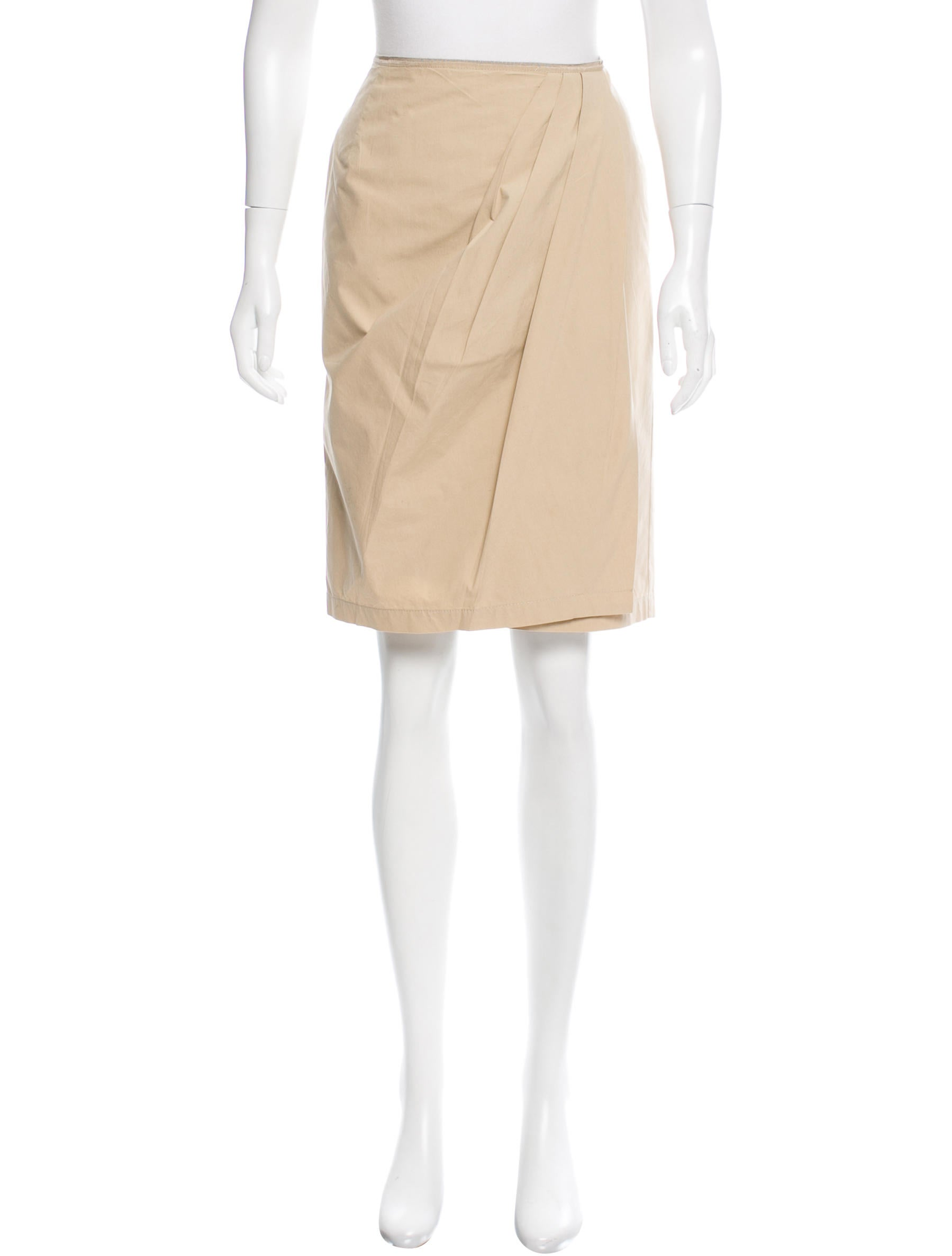 valentino knee length wrap front skirt clothing