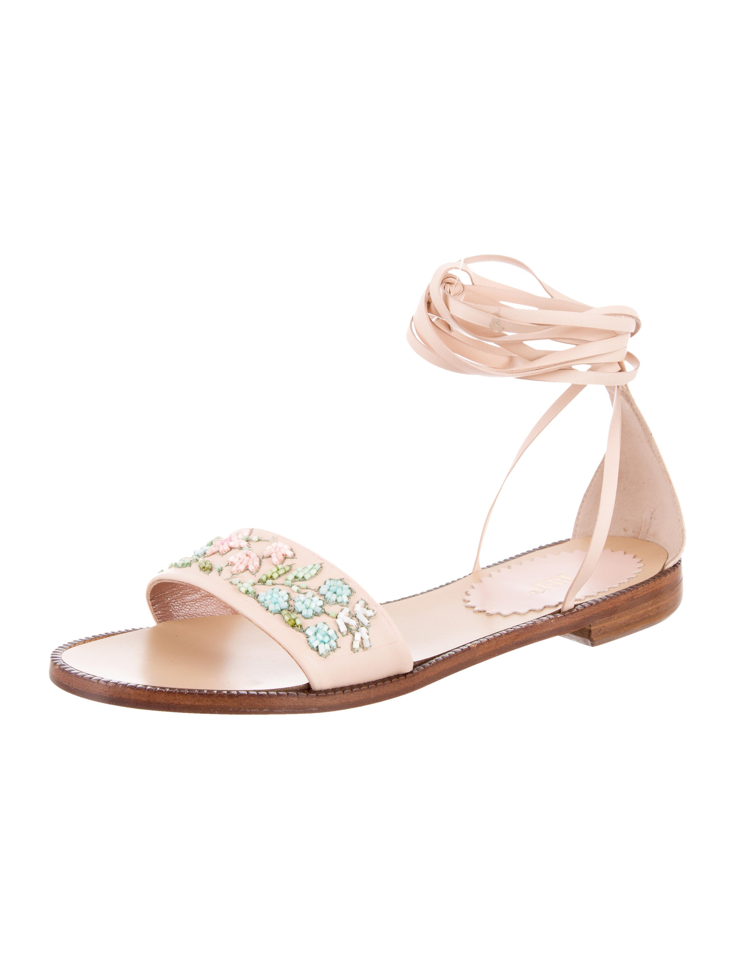 valentino leather beaded sandals shoes wre28328