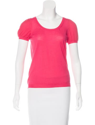 Red Valentino Knit Short-Sleeve Top None