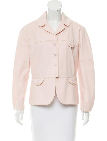 Red Valentino Long Sleeve Button-Up Jacket None