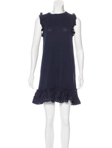 Red Valentino Sleeveless Knit Dress None