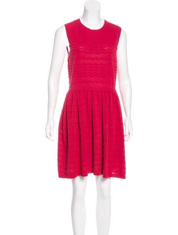 Red Valentino Sleeveless A-Line Dress None