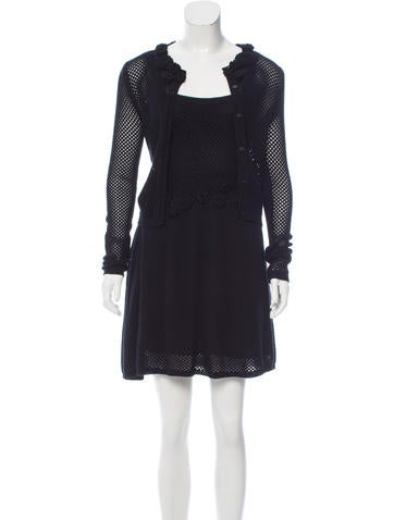 Red Valentino Knit A-Line Dress Set None