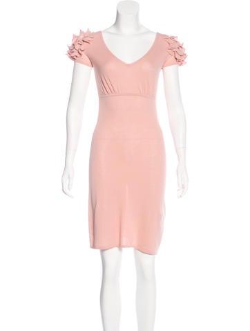 Red Valentino Ruffled Mini Dress None