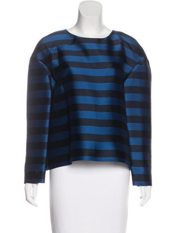 Red Valentino Striped Long Sleeve Top w/ Tags None