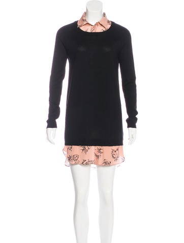 Red Valentino Long Sleeve Sweater Dress None