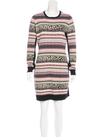 Red Valentino Wool-Blend Fair Isle Dress w/ Tags None