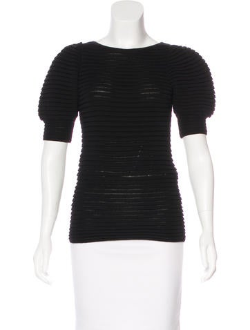 Red Valentino Short Sleeve Knit Top None