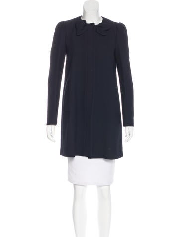 Red Valentino Long Sleeve Knee-Length Coat None