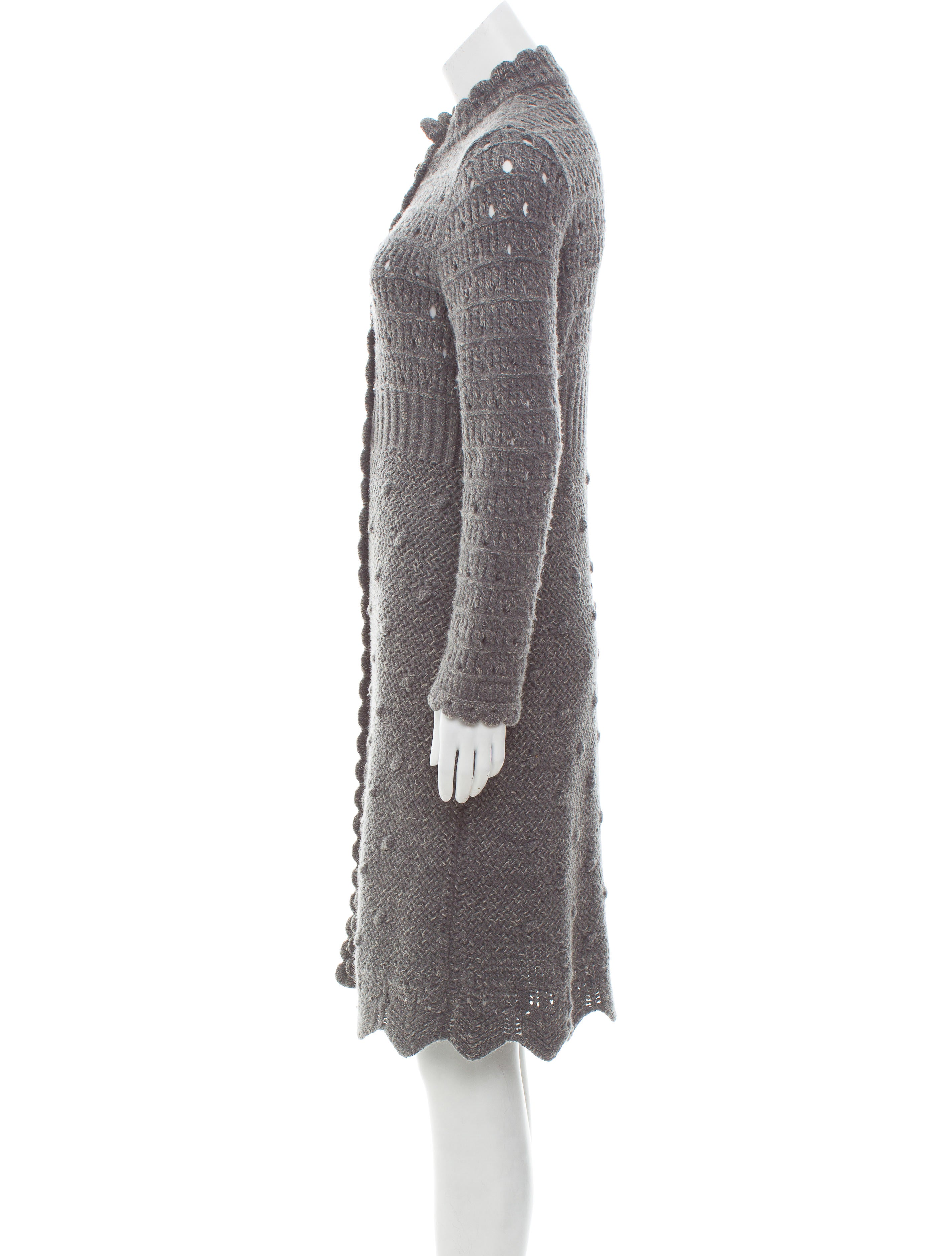 Red Valentino Wool-Blend Duster Cardigan - Clothing - WRE30135 ...