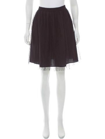 Red Valentino Mesh Mini Skirt None