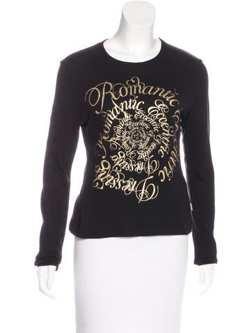 Red Valentino Long Sleeve Graphic Top None