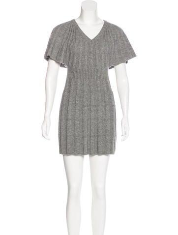Red Valentino Rib Knit Mini Dress None