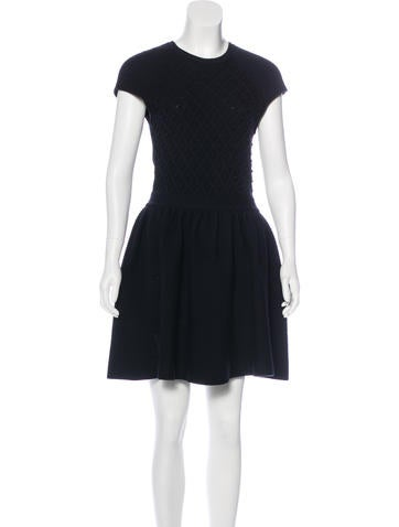 Red Valentino Wool A-Line Dress None