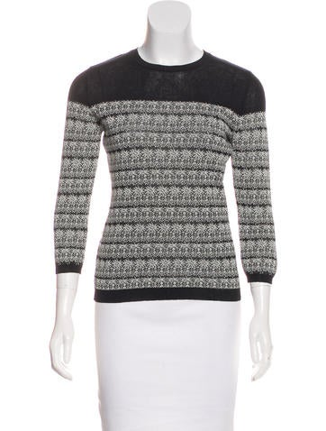 Red Valentino Floral Pattern Knit Sweater None