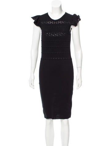 Red Valentino Knit Knee-Length Dress None