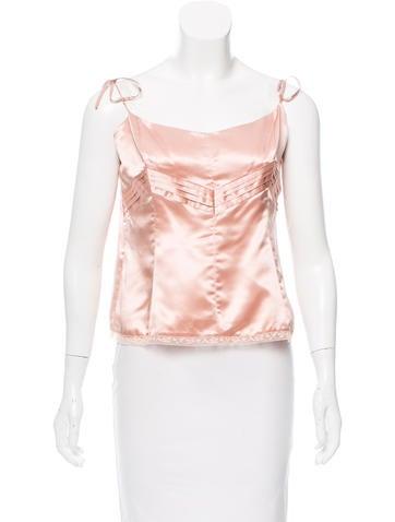Red Valentino Silk Sleeveless Top None