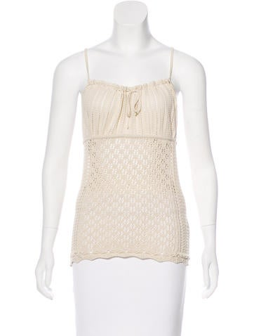 Red Valentino Sleeveless Knit Top None
