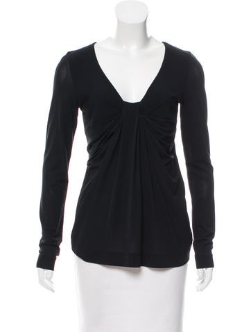 Red Valentino Draped V-Neck Top None