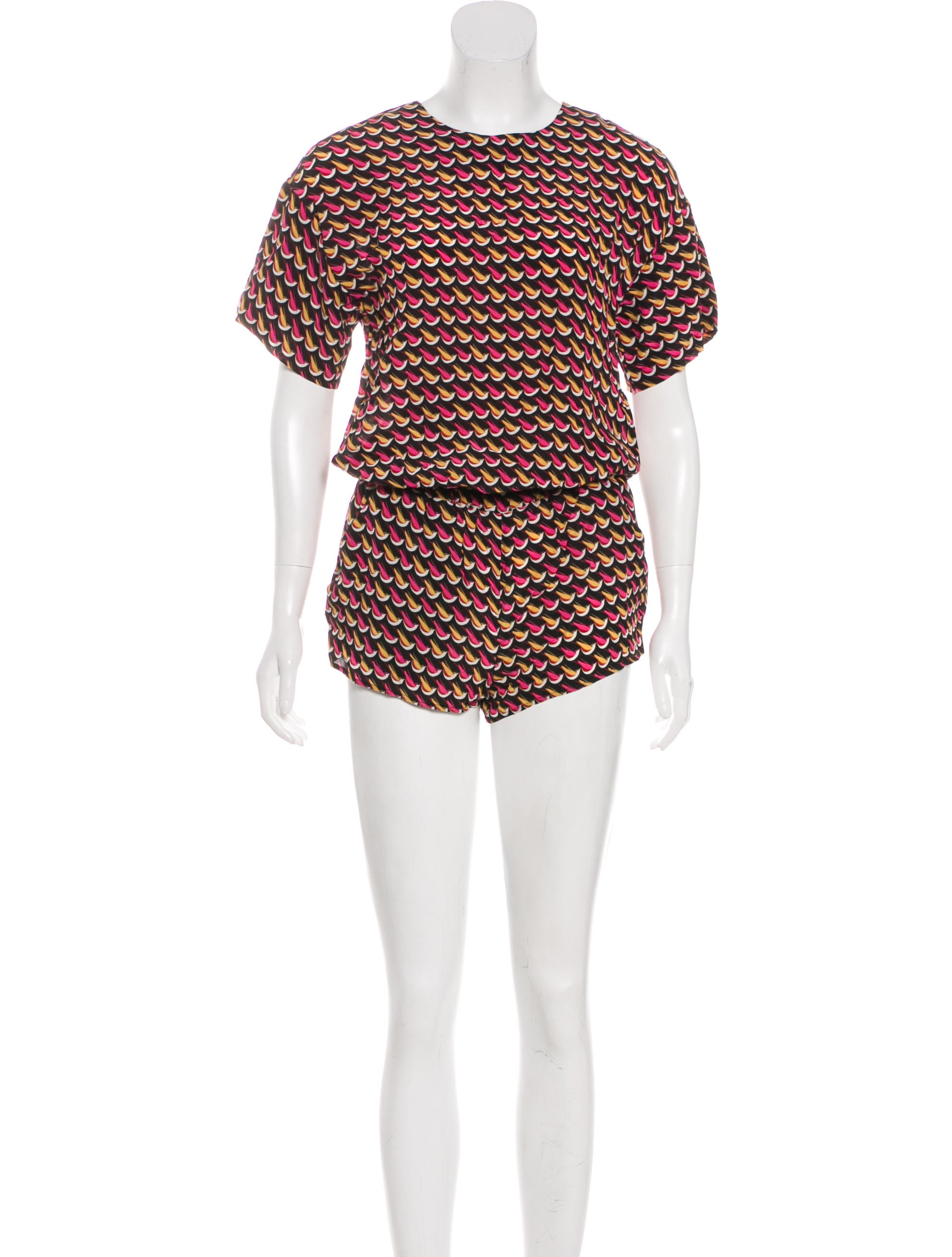 Cheap Sneakernews Red Valentino Silk Printed Romper Sale Countdown Package Shop DLnWhtdHDA