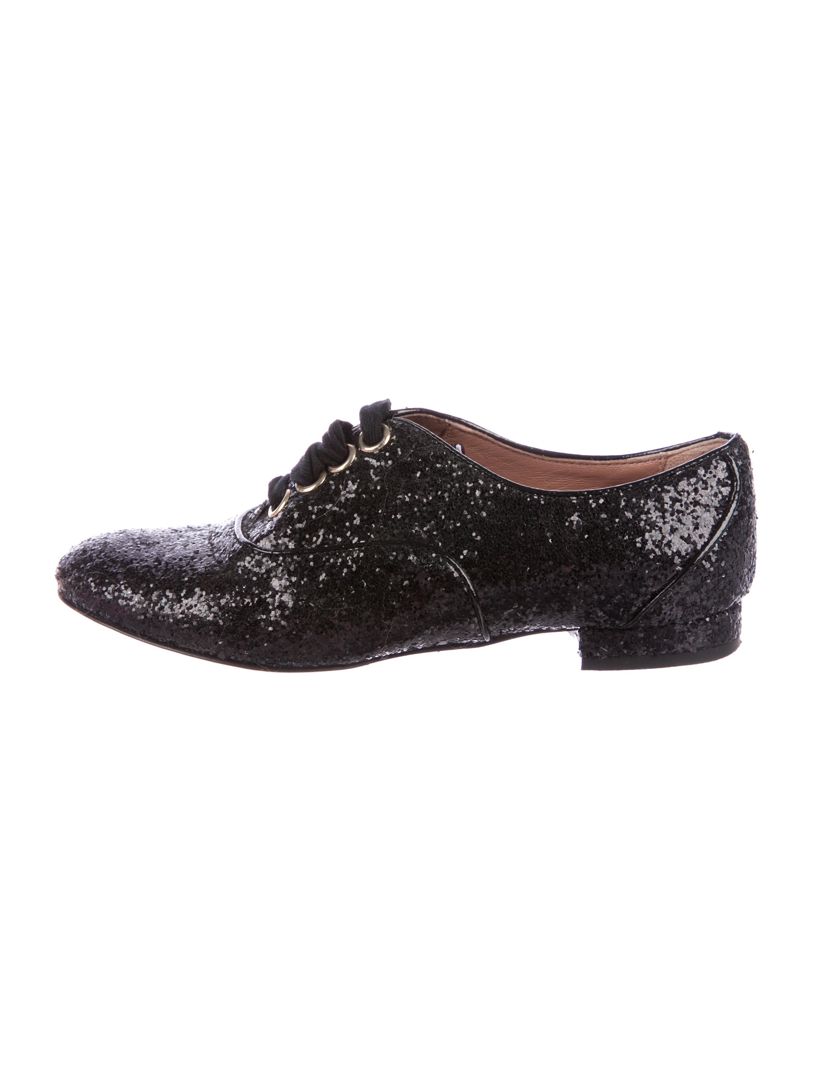 cheap price buy discount Red Valentino Glitter Round-Toe Oxfords buy cheap for cheap enjoy cheap price koW3YF