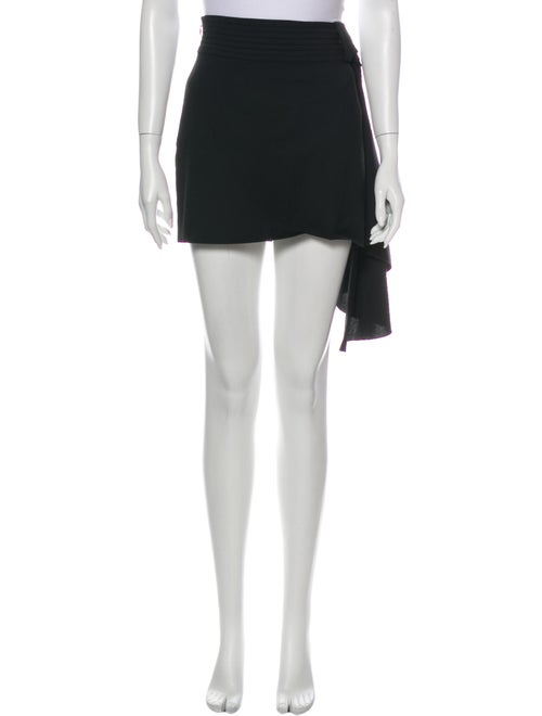 Red Valentino Pleated Accents Mini Skirt Red