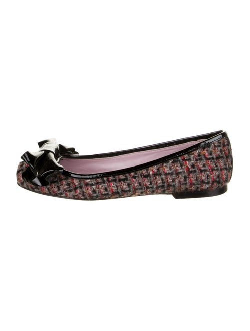 Red Valentino Printed Ballet Flats Red