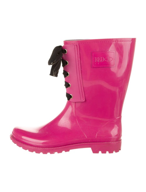Red Valentino Rubber Rain Boots Red