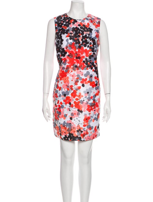 Red Valentino Floral Print Mini Dress Red