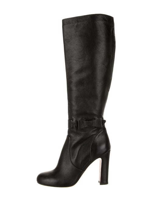 Red Valentino Betty Leather Boots Red
