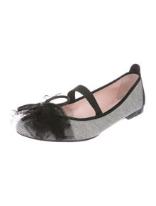 Red Valentino Colorblock Pattern Bow Accents Ballet Flats