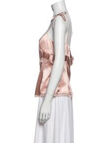 Red Valentino Silk Square Neckline Blouse