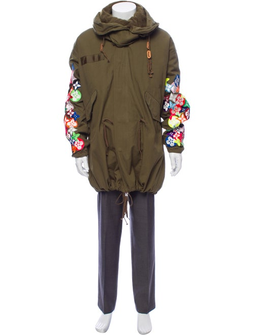Readymade Embroidered Hooded Coat olive