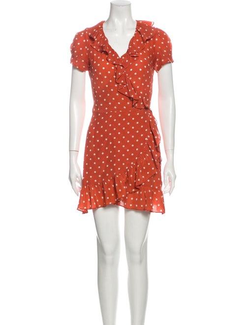 Réalisation Par Silk Mini Dress Orange