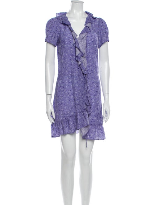 Réalisation Par Silk Mini Dress Purple