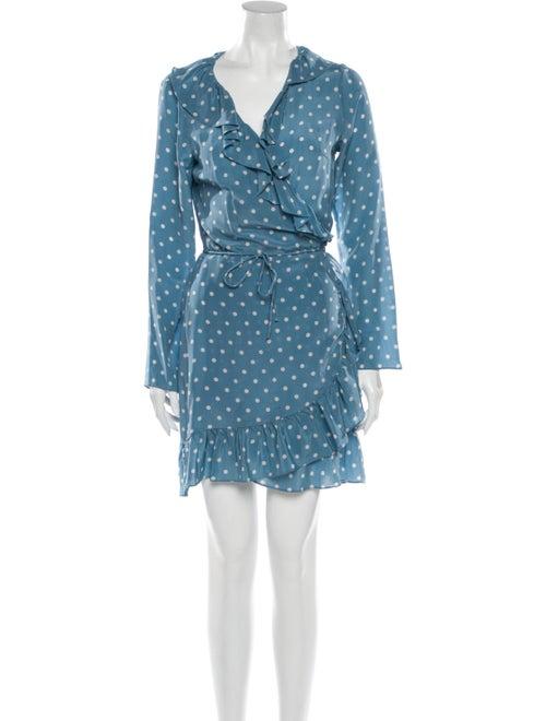 Réalisation Par Silk Mini Dress Blue