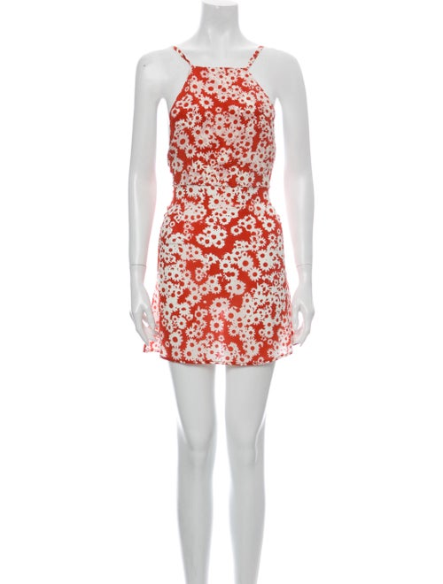 Réalisation Par Silk Mini Dress Orange